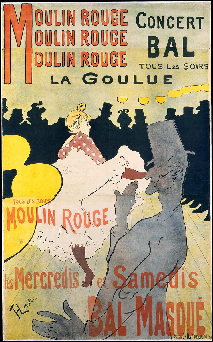 moulin rouge la goulue, touluse lautrec