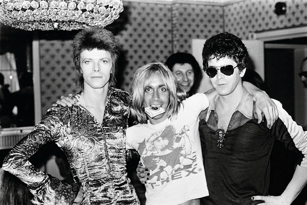 David Bowie, Iggy Pop y Lou Reed.