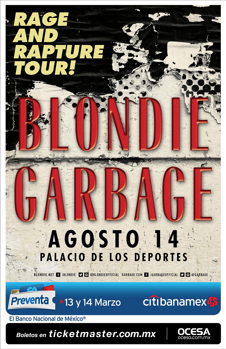 blondie y garbage en mexico
