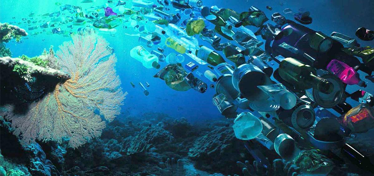 Resultado de imagen para basura bajo el mar