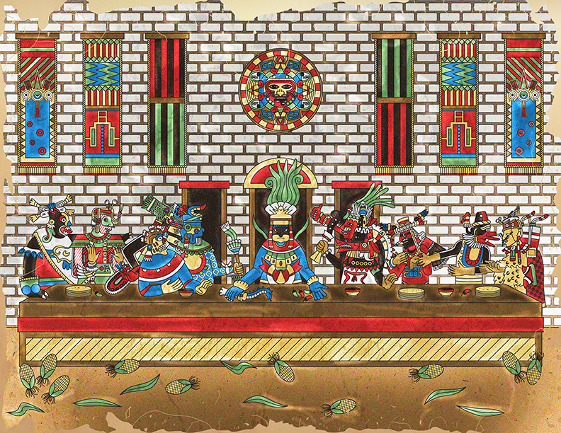 The Last Supper - Aztec Version