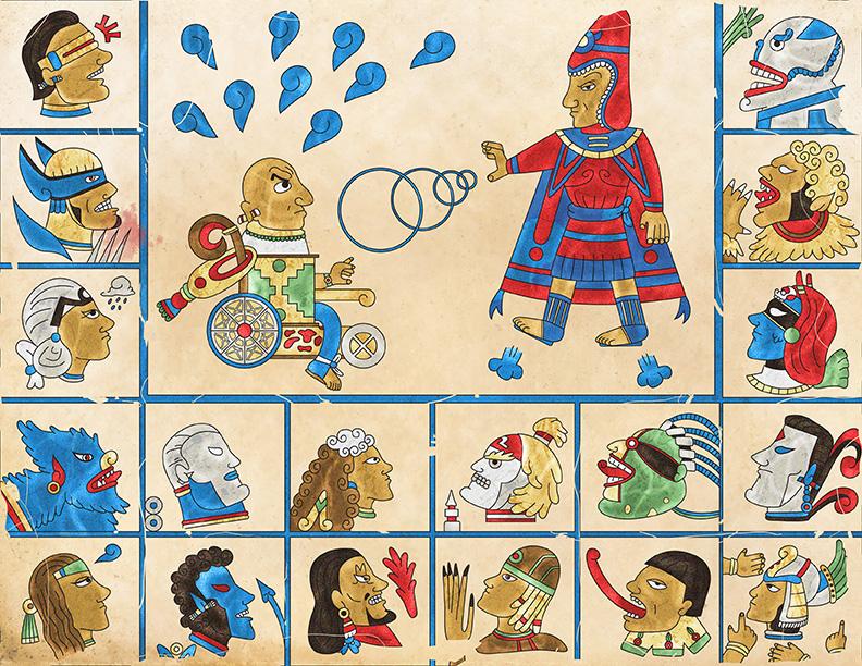 X Aztec Men