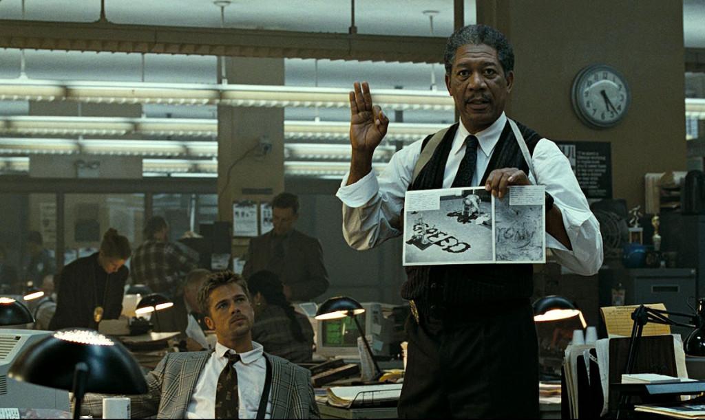 Morgan Freeman en la película Seven