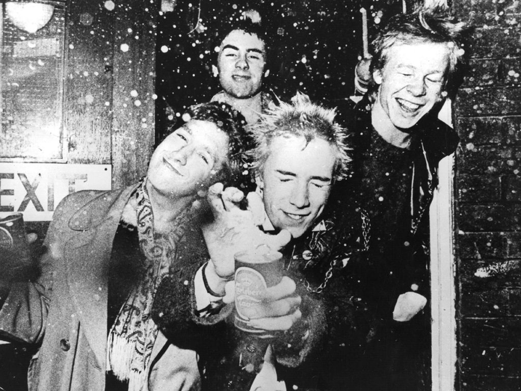 Johnny Rotten con Sex Pistols