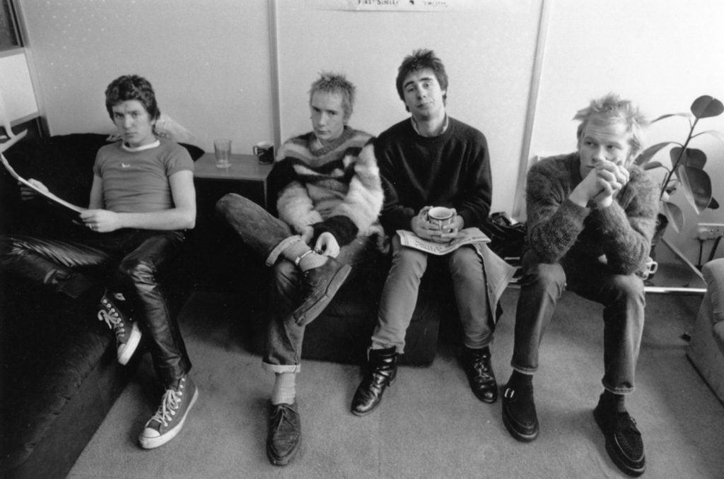 Johnny Rotten con los Sex Pistols