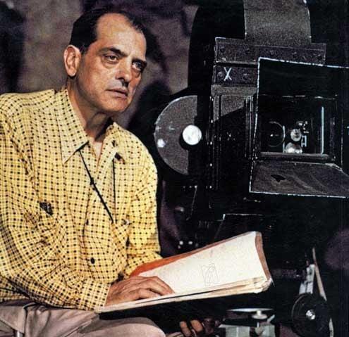Luis Buñuel durante la filmación de Robinson Crusoe, 1954.