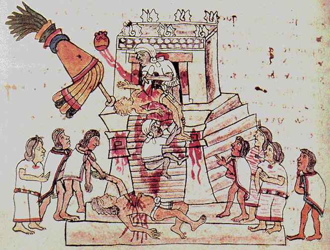 suicidio, cultura náhuatl, México prehispánico, sacrificio, códice