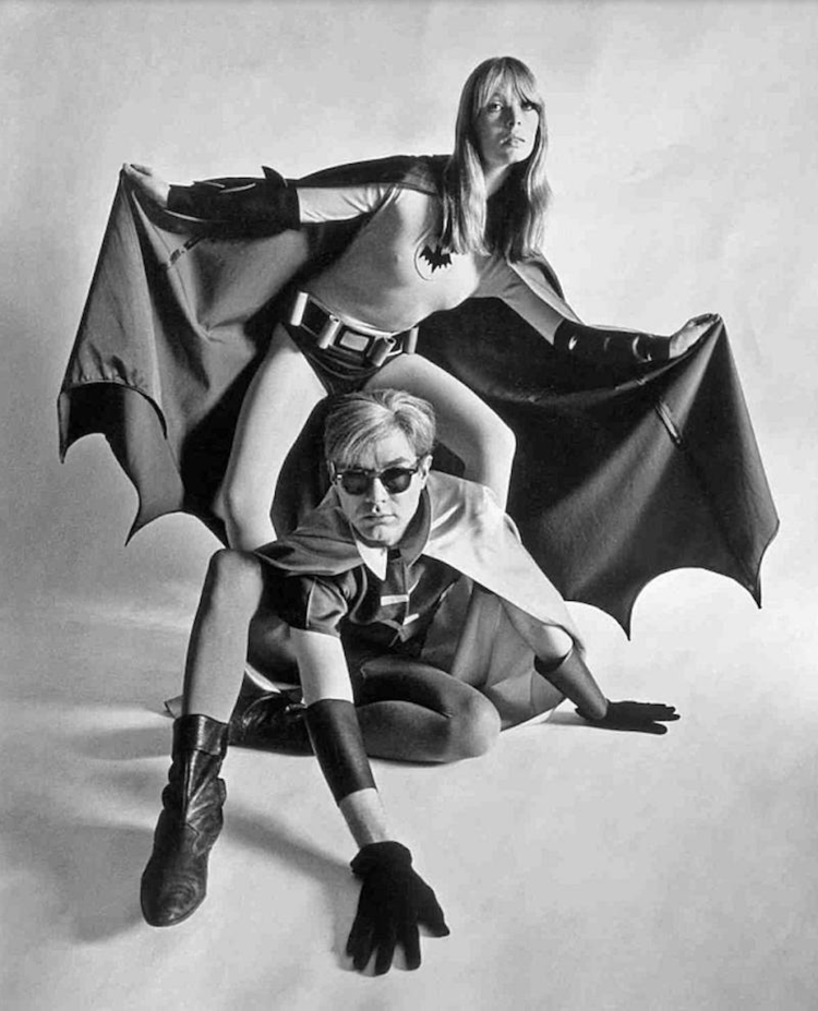 Andy Warhol y Nico Batman y Robin photoshoot