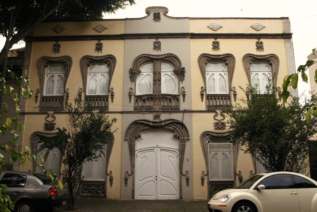 edificio art nouveau colonia roma
