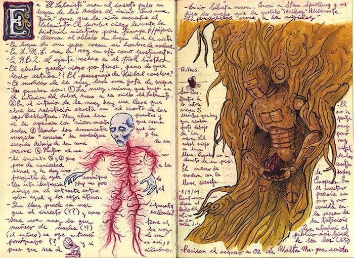 bocetos de Guillermo del Toro