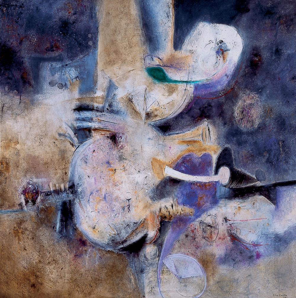 pintura de Lilia Carrillo expresionismo abstracto en México