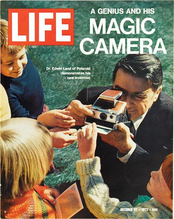 Revista Life sobre nueva cámara Polaroid