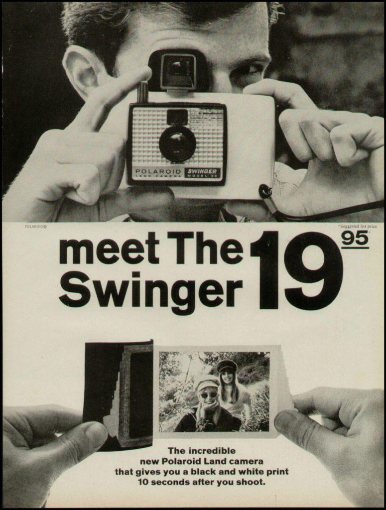 Folleto sobre la Polaroid Swinger