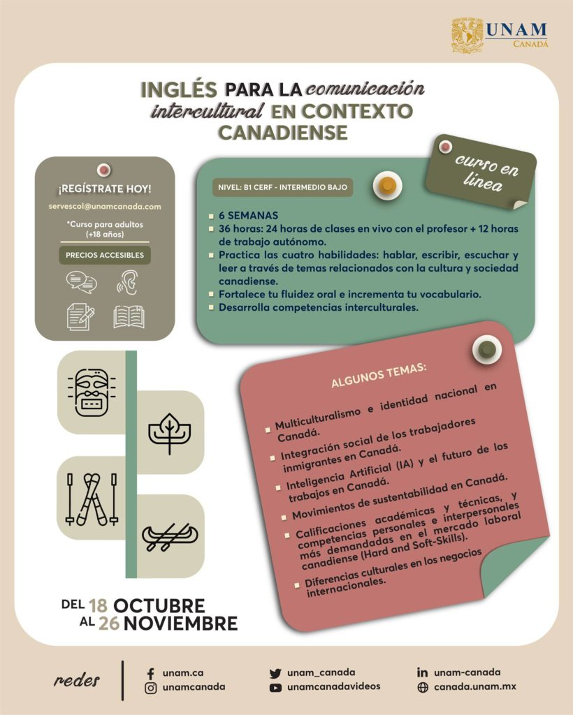 CURSO DE INGLÉS EN UNAM CANADÁ