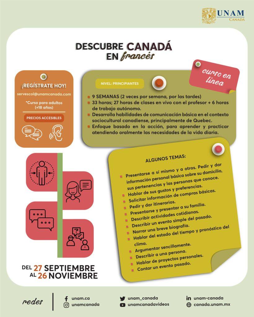 CURSO FRANCÉS UNAM CANADÁ