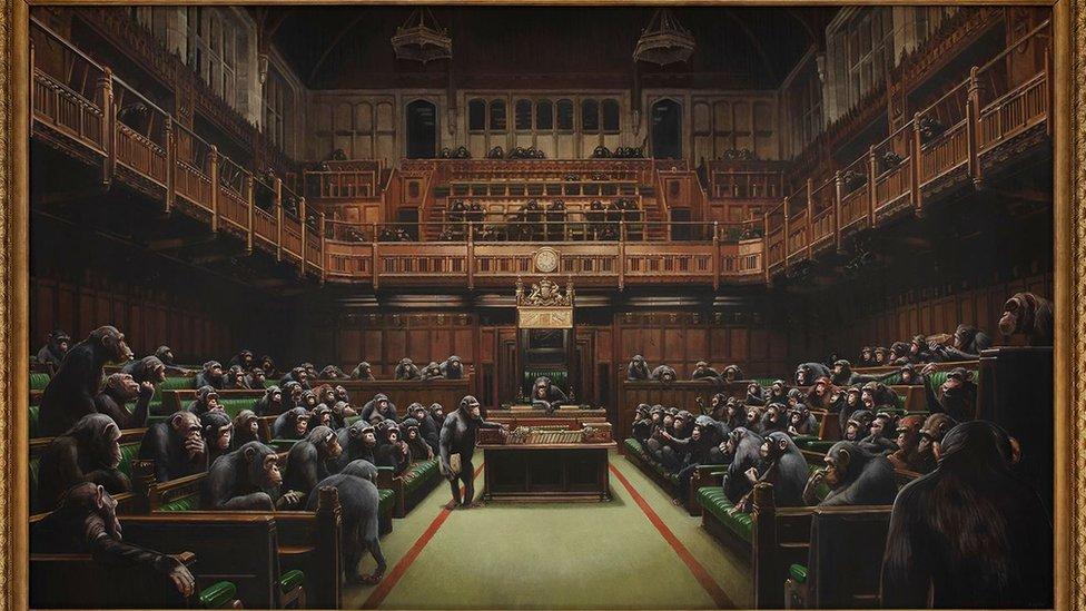 Devolved Parliament. Bansky
