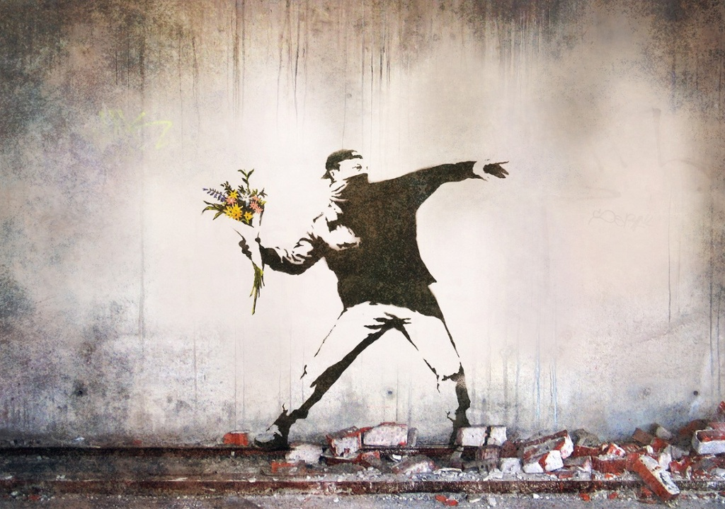 Love is in the Air. Banksy. Obras subastadas