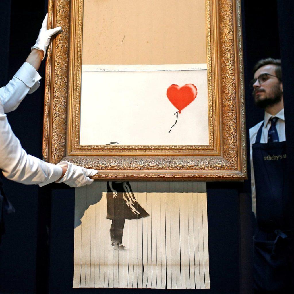 Girl With Ballon, de las obras subastadas de Banksy