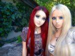 Muñecas vivientes Anastasiya Shpagina y Valeria Lukyanova