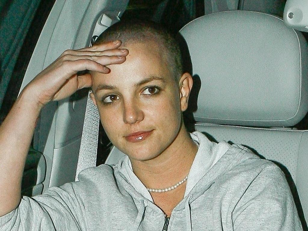 Britney Spears, rapada en el 2007