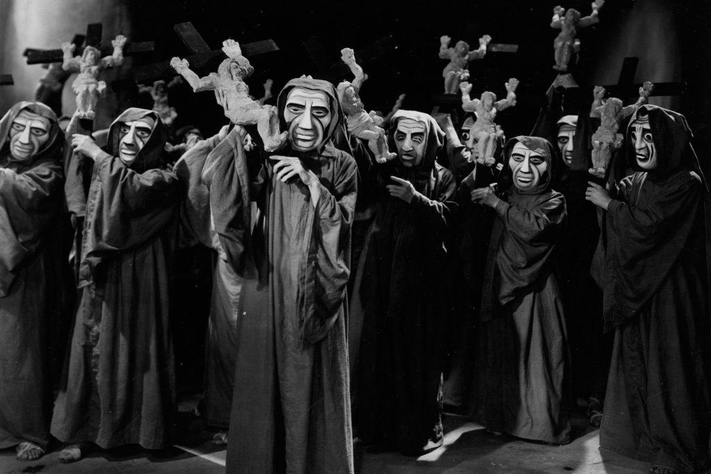 Escena de película de Dos Monjes