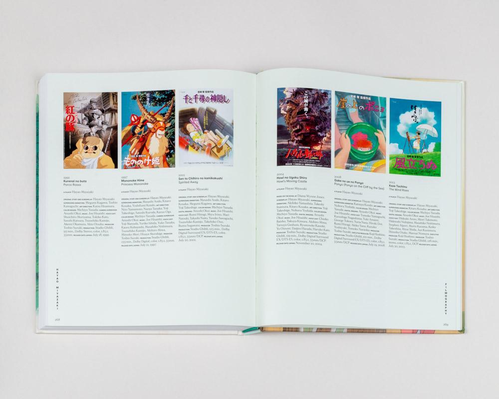 Interior catálogo sobre Hayao Miyazaki