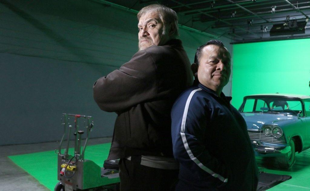 Joaquín Cosio y Silverio Palacios en grabaciones de Matando Cabos 2