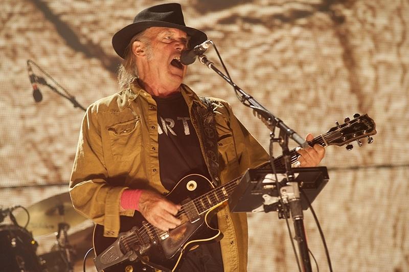 Neil Young en Farm Aid 2015