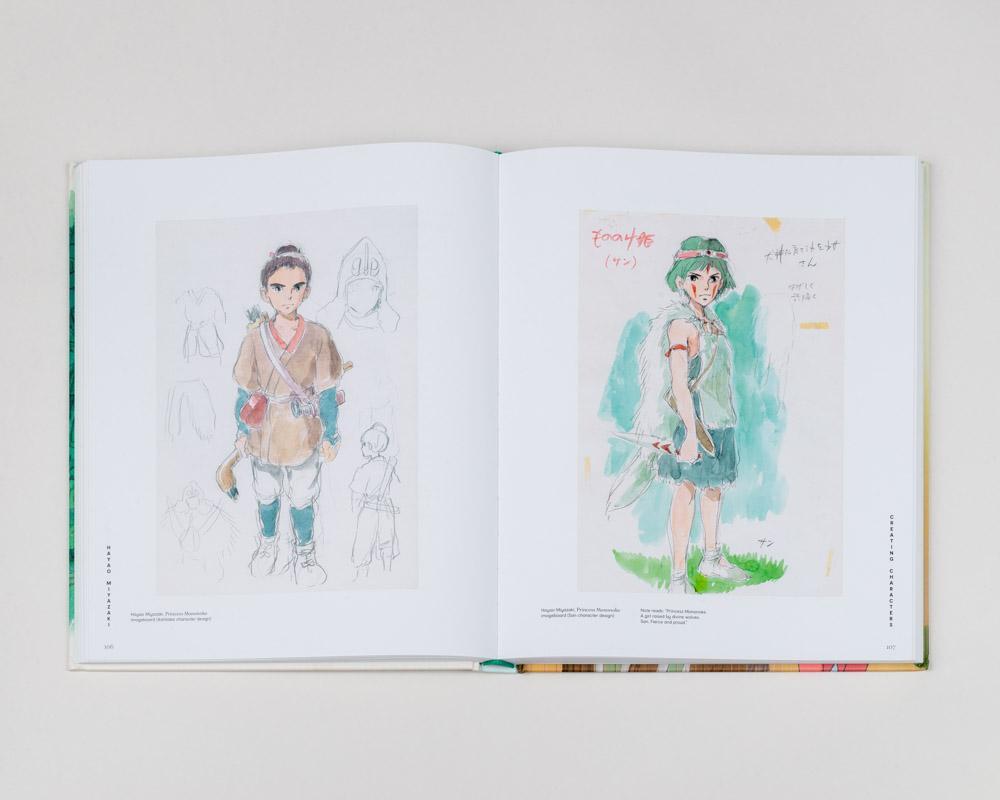 Páginas interiores libro Hayao Miyazaki