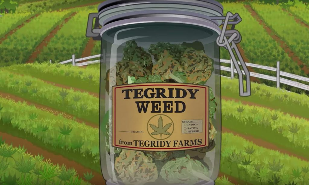 Embase promocional Tegridy Weed