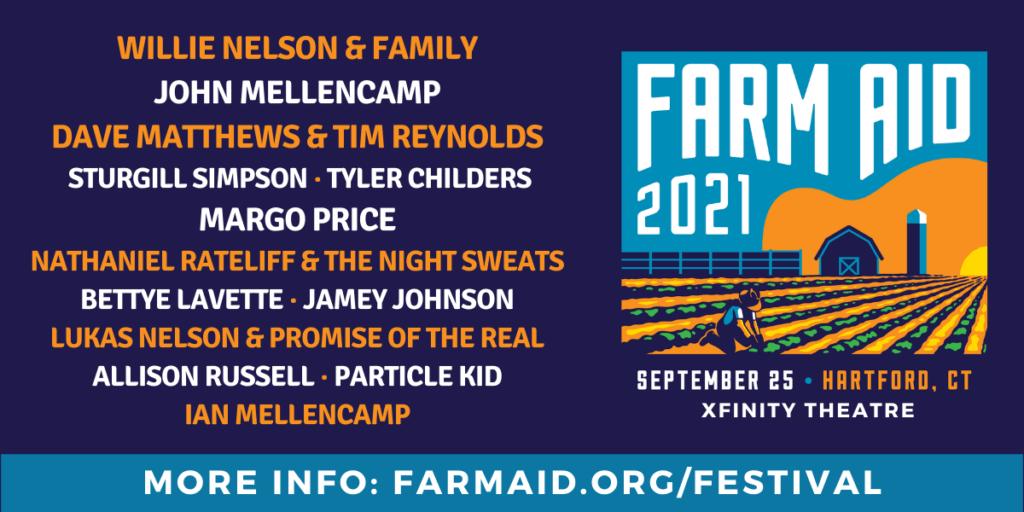 Line-up del Farm Aid 2021