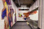 Nick Cave art subway ny